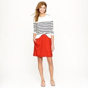 J. Crew bright red city mini skirt